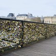 Stock Photo: Padlocks on bridge of all lovers.