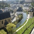 Luxembourg. Lower city. Look on the river and houses. — Stock Photo