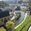 Luxembourg. Lower city. Look on the river and houses. — Stock Photo #26371647