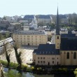 Luxembourg. Look on the lower city and a church. — Stock Photo #26371649
