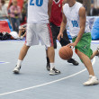 Stock Photo: Competitions on amateur street basketball.