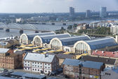 Riga. View of pavilions of the central market — Stock Photo