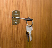 Opening of doors by means of keys — ストック写真