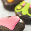 Stock Photo: Heart Shaped Chocolate Cupcake