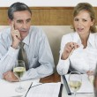 Businesspeople In Restaurant — Stock Photo