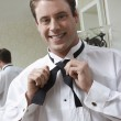 Groom Getting Dressed — Stock Photo