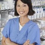 Female Pharmacist At Pharmacy — Stock Photo #21789155