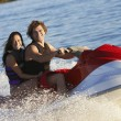 Young Couple Riding PWC — Foto de Stock