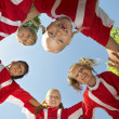 Soccer Players Forming Huddle — Stock Photo