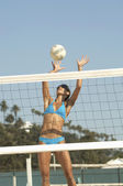 Woman Playing Volleyball — Stock Photo
