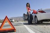 Young Woman Refueling Her Car — Stock Photo