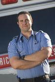 EMT doctor standing — Stock Photo