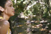 Teenage Girl In Forest — Stock Photo