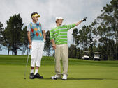 Male Friends Golfing Together — Foto de Stock