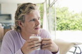 Man Having Coffee — Stock Photo