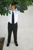 Businessman Standing Under Tree — Stock Photo