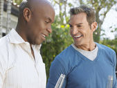 Male Friends Having Conversation — Stock Photo