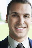 Confident Businessman Smiling — Stock Photo