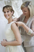 Mother Dressing Up Bride — Stock Photo