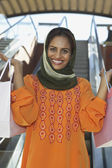 Happy Woman With Shopping Bags — Foto Stock