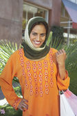 Indian Female With Shopping Bag — Stockfoto