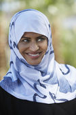 Indian Muslim Woman Smiling — Stock Photo