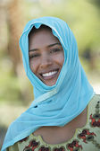 Muslim Woman Smiling — Stock Photo