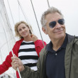 Couple On Standing Yacht — Stock Photo #21790633