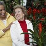 Senior Women At Botanical Garden — Stock Photo