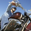Man Riding Motorcycle — Stock Photo