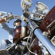 Biker Riding Motorcycle — Stock Photo #21791477