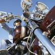 Biker Riding Motorcycle — Stock Photo