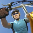 Young Male Riding Bicycle — Stock Photo