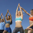 Group Exercising With Instructor In Park — Stock Photo #21791951