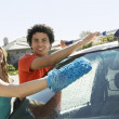 Couple Washing Car — Stock Photo #21796193