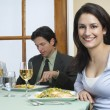 Colleagues At Dining Table — Foto Stock