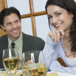 Stock Photo: Young Couple At Restaurant