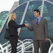 Businesspeople Greeting Each Other — Stock Photo