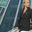Businesswoman Outside Office Building — Stock Photo