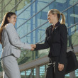 Businesswomen Greeting Each Other — Stock Photo