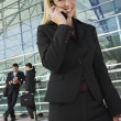 Happy Businesswoman On Call — Stock Photo