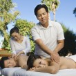 Couple Having A Body Massage — Stock Photo