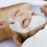 Young Woman Having Facial Treatment — Stock Photo