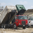 Trucks Dumping Waste — Stock Photo