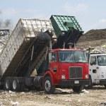 Trucks Dumping Waste — Stock Photo