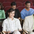 Stock Photo: Sitting In Auditorium