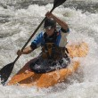 Stock Photo: MKayaking On Mountain River