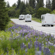 Stock Photo: Recreational Vehicles On Road