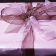 Present Box With Bow - Stock Photo