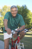 Man With Bicycle — Stock Photo